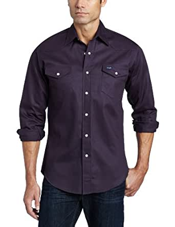 0000115d Wrangler Men's Authentic Cowboy Cut Work Western Long-Sleeve Shirt ...
