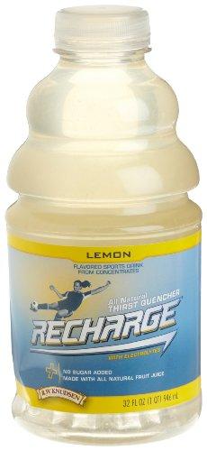 Recharge Lemon (R.W. Knudsen Recharge Sports Drink, Lemon, 32-Ounce Bottles (Pack of 12))