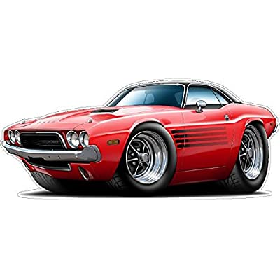 1973-1974 Challenger Wall Decal Vintage 3D Car Movable Stickers Vinyl Wall Stickers for Kids Room: Baby