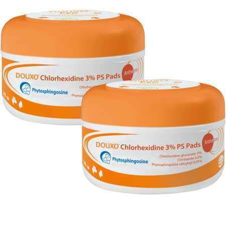 2PACK Chlorhexidine PS + Climbazole Medicated Pads 60 Pads