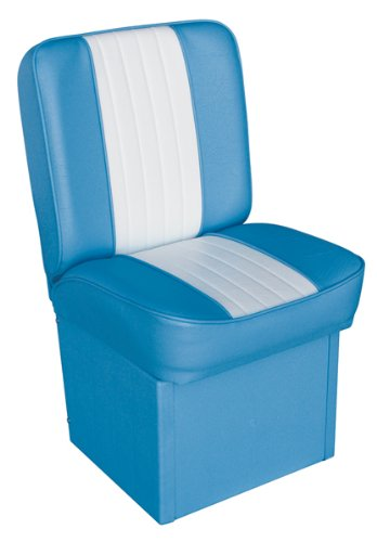 Deluxe Boat Seats Jump Seat (Wiseco WD1414P-663 Light Blue/White Deluxe Jump Seat)