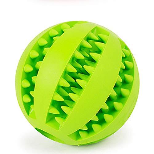 (DO HUYEN Treat Dispensing Dog Toys Pet Dog Toys Interactive Natural Rubber Ball Cat Puppy Chew Toy Food Dispenser Ball Bite-Resistant Clean Teeth Pet Playing Balls (M Diameter 7cm,)