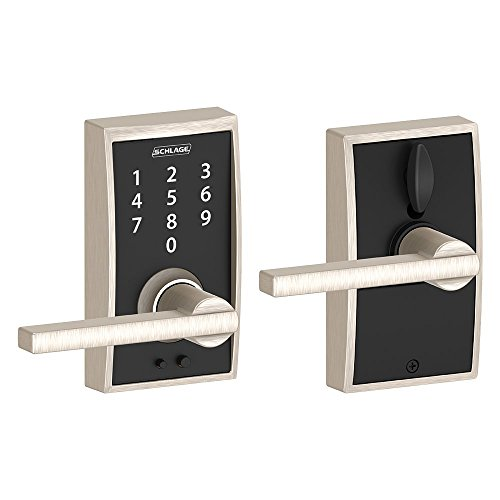 (Schlage Touch Century Lock with Latitude Lever (Satin Nickel) FE695 CEN 619 LAT)
