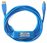EZSync USB PLC Programming Cable for Allen Bradley Micrologix, 8-pin mini DIN RS232 port, 1761-CBL-PM02 comparible, EZSync501