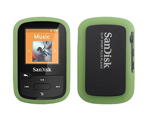 Sandisk Sansa Clip Sport Plus Silicone Case - Slim Fit , Anti-Slip Protective Soft Rubber Silicone Skin Cover Case for Sandisk Sansa Clip Sport Plus SDMX28 MP3 Player 2016 Release - Lawn Green