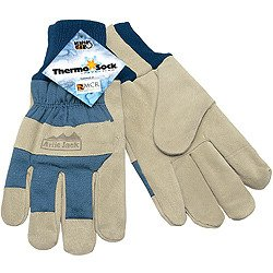 Memphis 1956S Artic Jack Glove Split Pigskin ThermoSock Liner Size S (12 Pair) by Memphis Gloves (Image #1)