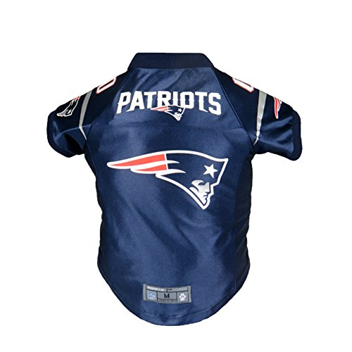 (Littlearth NFL New England Patriots Premium Pet Jersey, Small)