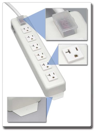 Tripp Lite 6 Outlet Home & Office Power Strip, 20A, 15ft Cord with 5-20P Plug (TLM615NC20)