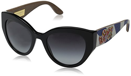 D&G Dolce & Gabbana Women's 0DG4278 Cateye Sunglasses, Black, 52 - Dolce And Gabbana Baroque