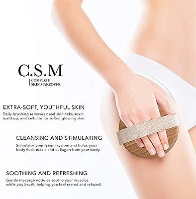 elimina la celulitis con mango largo Cepillo corporal para la espalda y la pierna cepillo exfoliante para piel radiante para el ba/ño masajeador de la piel