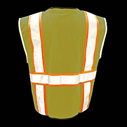 KwikSafety Class 2 Deluxe Safety Vest | Comfortable Reflective Breathable Mesh w/ Contrast Trimming & Heavy Duty Zipper | Construction Motorcycle Traffic Running Emergency | Men Women | Yellow L/XL