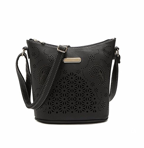 Womens Handbags Shoulder Bags PU Leather Ladies Shoulder Bag Fashion Bag Casual Black Black
