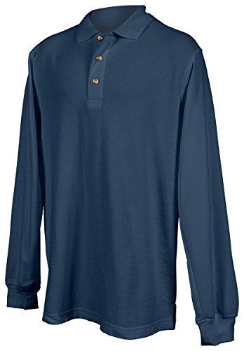 Tri Mountain Mens Long Sleeve Polo Shirt 608 Champion