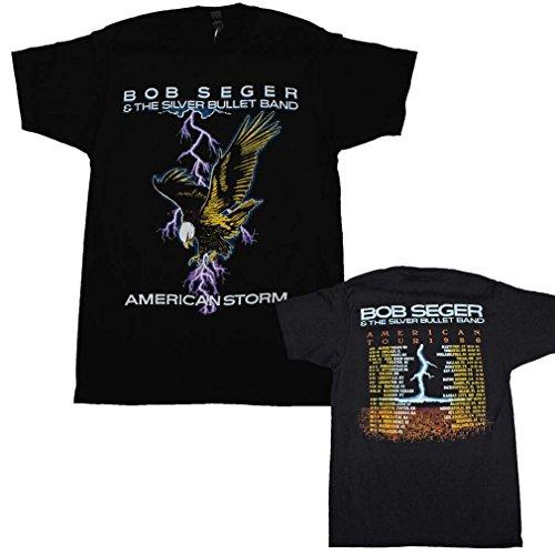 FEA Bob Seger American Storm Tour 1986 T-Shirt-XL Bob Seger T-shirt