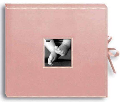 (Sewn Leatherette D-Ring Scrapbook Box - Baby Pink 1 pcs sku# 633202MA)