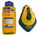 IRWIN Tools STRAIT-LINE 64494 Speed-Line Refillable High-Speed Chalk Line Reel with 4-ounce Chalk, 100-foot, Blue Chalk (64494)