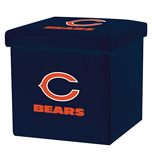 Franklin Sports NFL Chicago Bears Storage Ottoman with Detachable Lid 14 x 14 x 14 - Inch