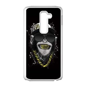 LG G2 Cell Phone Case White Funny Gangsta Monkey D3K4RT