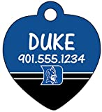 Duke Blue Devils Dog Tag Cat Tag Pet Id Tag Personalized w Name & Number