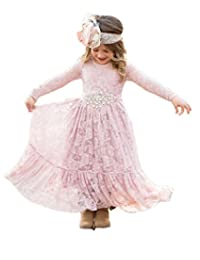 Mordarli Wedding Pageant Lace Flower Girl Dress First Communion Dresses