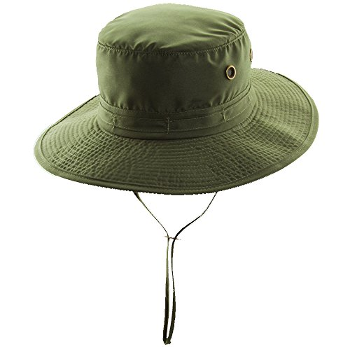 Dorfman Pacific Boonie Mesh Linning Chin Cord Hat (L, OLIVE) - Pacific Military Hat