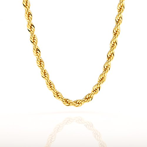 Lifetime jewelry 6mm rope chain 24k gold with inlaid bronze lifetime jewelry 6mm rope chain 24k gold with inlaid bronze premium fashion jewelry mozeypictures Choice Image