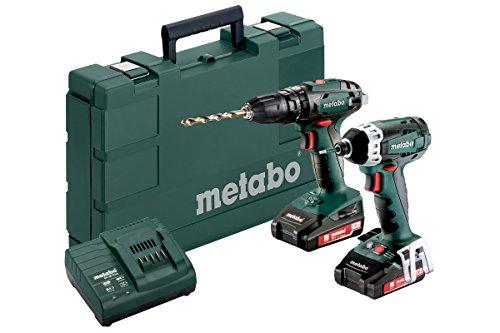 Metabo SB 18 + SSD 18 LTX 200 2x 2.0Ah 18V Hammer Drill/Driver Impact Combo Kit