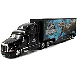 Jada Toys Jurassic World 1:32 Peterbilt 387 Long Hauler Vehicle, Black