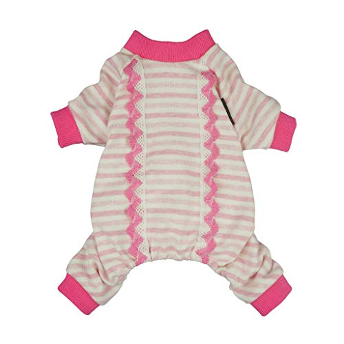 Fitwarm Pet Clothes for Dog Pajamas Cat Shirts Jumpsuits Apparel Cotton Pink