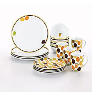 Amazon.com | Rachael Ray Dinnerware Little Hoot 16-Piece