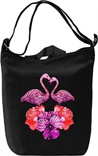 Flamingo Borsa Giornaliera Canvas Canvas Day Bag  100% Premium Cotton Canvas  DTG Printing 
