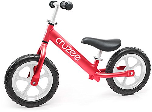 Pickup Trike - Cruzee Ultralite Balance Bike (4.4 lbs) for Ages 1.5 to 5 Years | Red - Best Sport Push Bicycle for 2, 3, 4 Year Old Boys & Girls- Toddlers & Kids Skip Tricycles on The Lightest First Bike