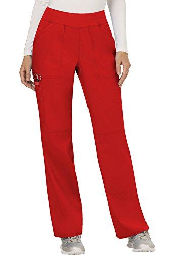 WW Revolution by Cherokee Women's Mid Rise Straight Leg Pull-on Pant, Medium Petite, - Fashion Shop Rd
