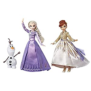 Disney Frozen Elsa, Anna, & Olaf Deluxe Fashion Doll Set with Premium Dresses, shoes and Accessories Inspired by Disney…