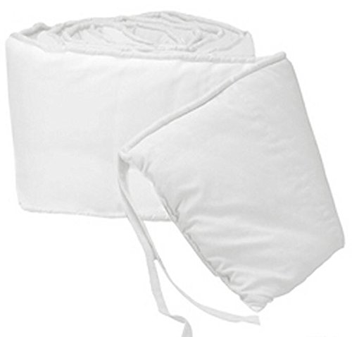 BabyDoll Baby Cradle Bumpers, White, 18''x36'' by BabyDoll Bedding