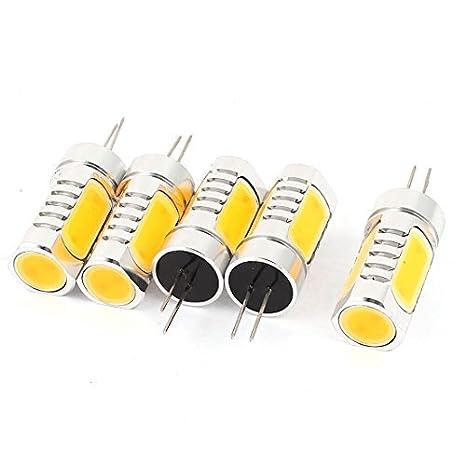 5 piezas de ahorro de energía G4 6D 6W 4 Bombilla LED lámpara de luz blanco cálido - - Amazon.com