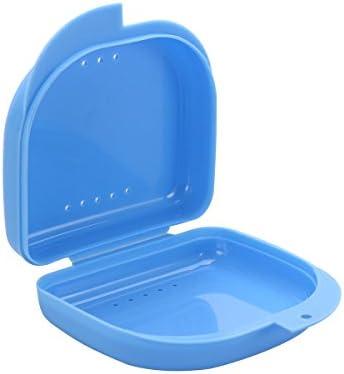 Rosenice - Contenedor para prótesis dentales, 3 unidades, caja porta dientes, funda protectora bucal azul: Amazon.es: Salud y cuidado personal