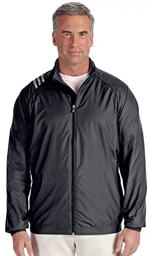 adidas A169 Mens 3-Stripes Full-Zip Jacket - Black & White, 2XL by adidas