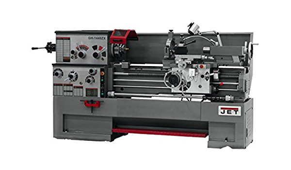 JET GH-1660ZX TAK Lathe with Taper Attachment Installed