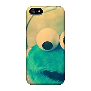 Best Hard Phone Case For Apple Iphone 5/5s With Support Your Personal Customized High Resolution Cookie Monster Image JoannaVennettilli