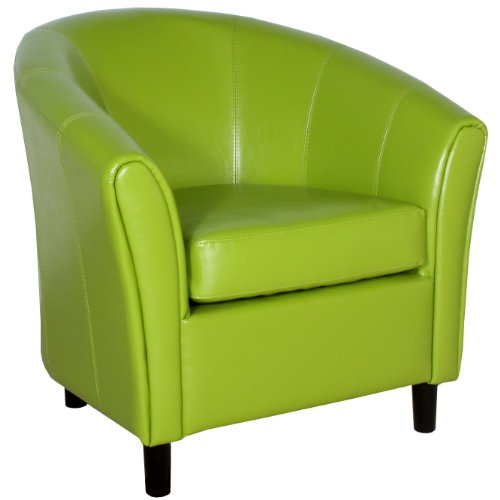 Best Selling Napoli Lime Green Leather Chair (Chairs For Sale)