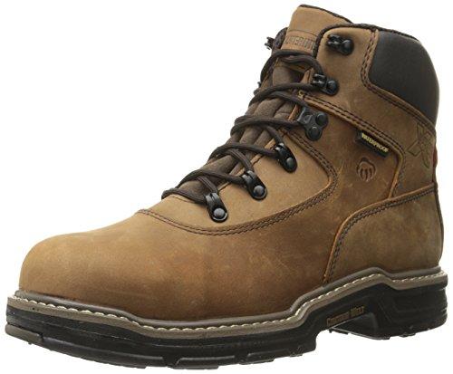 Wolverine Multishox Waterproof Steel Toe (Wolverine Men's Marauder 6 Inch Contour Welt Steel Toe EH Work Boot, Brown, 11 M US)