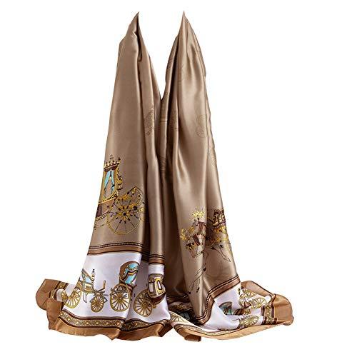 Bellonesc Silk Scarf 100% silk Long Lightweight Sunscreen Shawls for Women (mix20)
