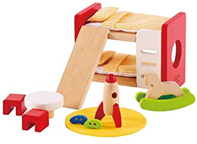 Hape Wooden Doll House Furniture Children's Room with Accessories