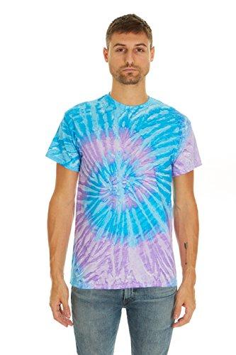 Pattern Tie Dye T-shirt (Krazy Tees Tie Dye T-Shirt, Spiral Lavender, 2XL)
