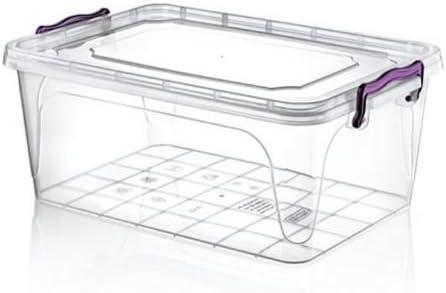 Tamaño grande 20 litros Heavy Duty Plástico Transparente Caja de ...