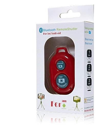 UFCIT Bluetooth Wireless Remote Control Camera Shutter Release Self Timer for IOS Android Smartphones (Black Remote) (Phone Remote Control)