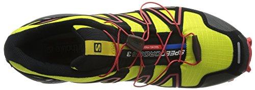 SalomonSpeedcross 3 - Zapatillas de Running para Asfalto Hombre Amarillo (Corona Yellow / Black / Radiant Red)