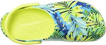 Crocs Unisex Classic Printed Clog Mule, Tennis Ball Greencerulean Blue, 6 Us Men8 Us Women 7