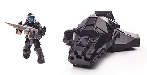 Mega Bloks Halo Drop Pod Metallic Stealth ODST Toy Figure (Halo Odd Pods)